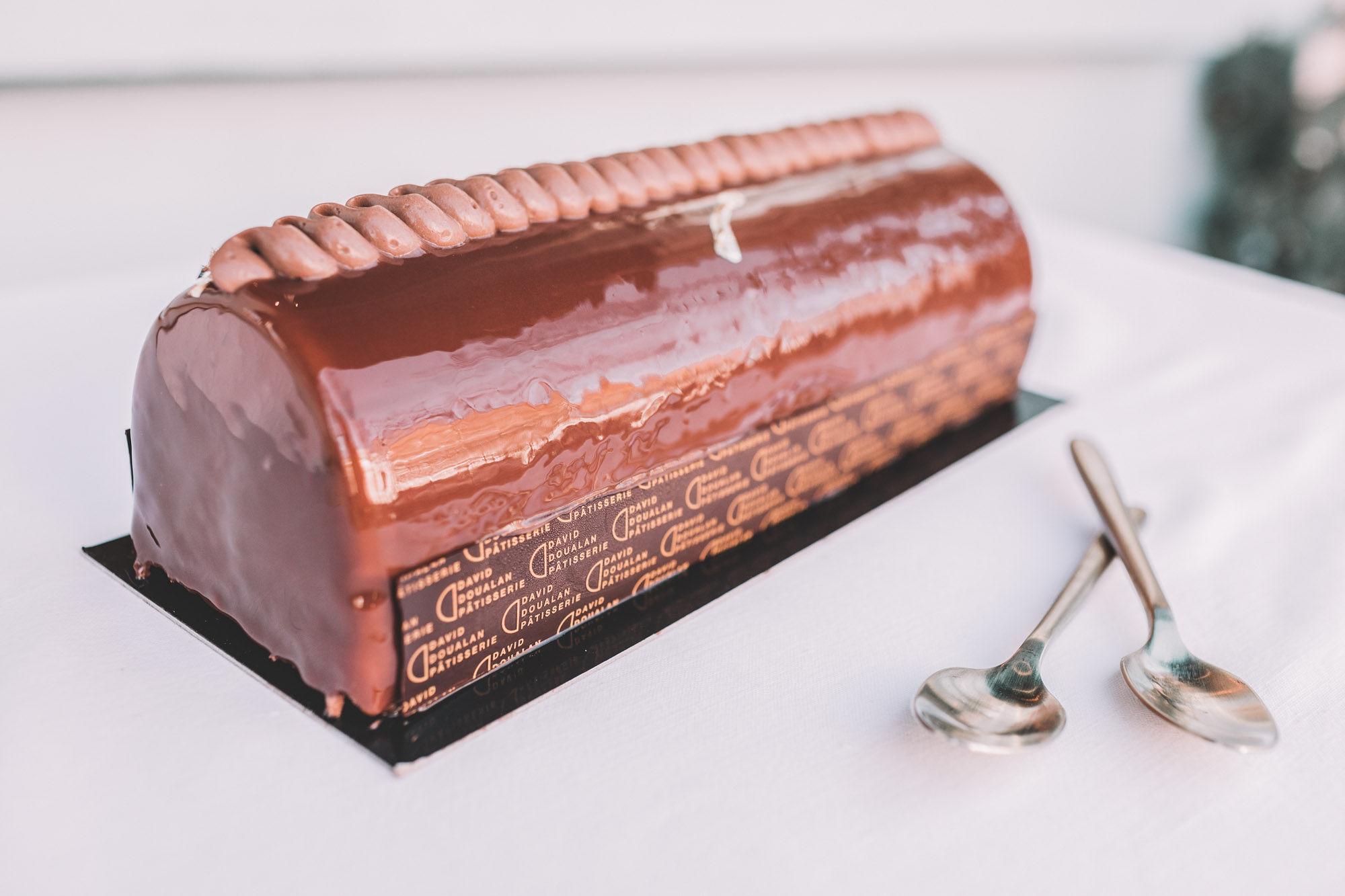 Bûche de Noel Chocolat Poire 2 - David Doualan Pâtisserie